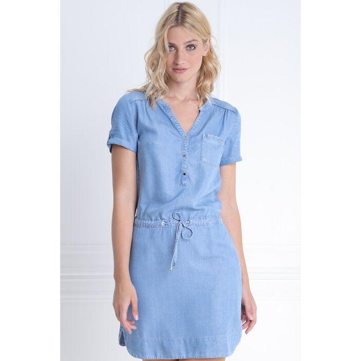 choisir le dernier artisanat de qualité mode de vente chaude Robe courte ajustée en jean denim double stone femme | Vib's