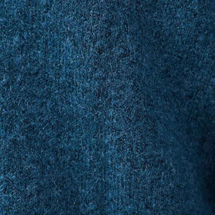 Gilet manches longues bleu pétrole femme