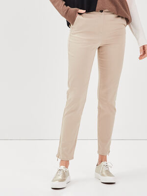 Pantalon ajuste 78eme beige femme