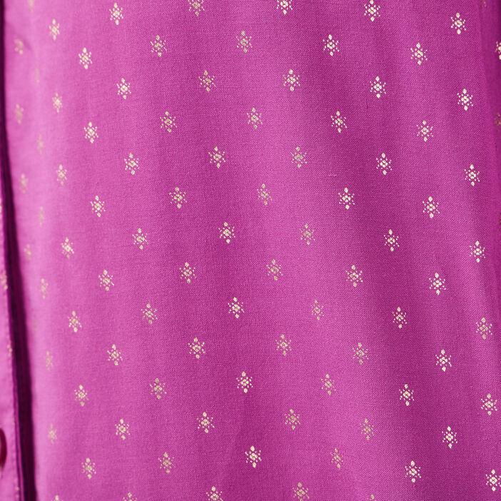 Blouse manches longues violet femme