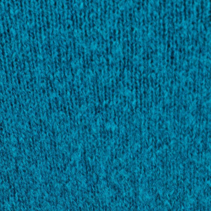 Gilet manches longues boutonné bleu pétrole femme