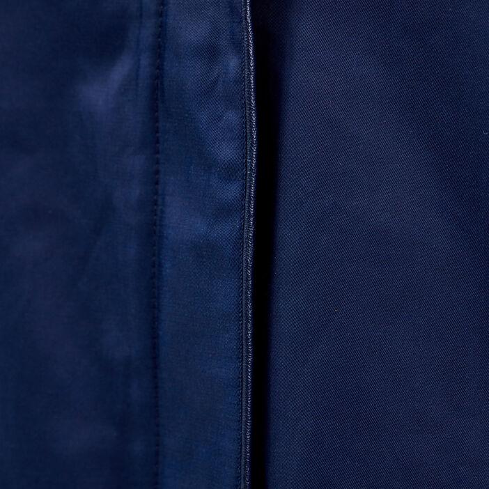 Parka droite à capuche bleu marine femme