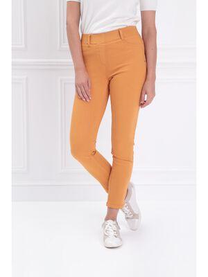 Tregging taille standard jaune moutarde femme
