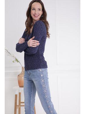 Jean ajuste taille standard denim double stone femme