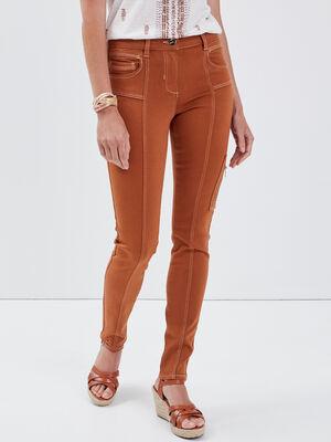Pantalon 78 eme camel femme