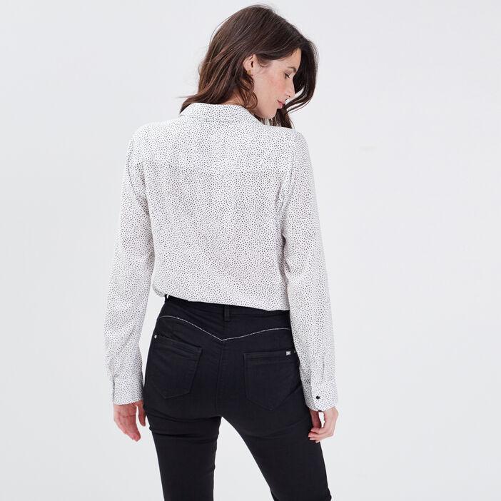 Chemise manches longues blanc femme