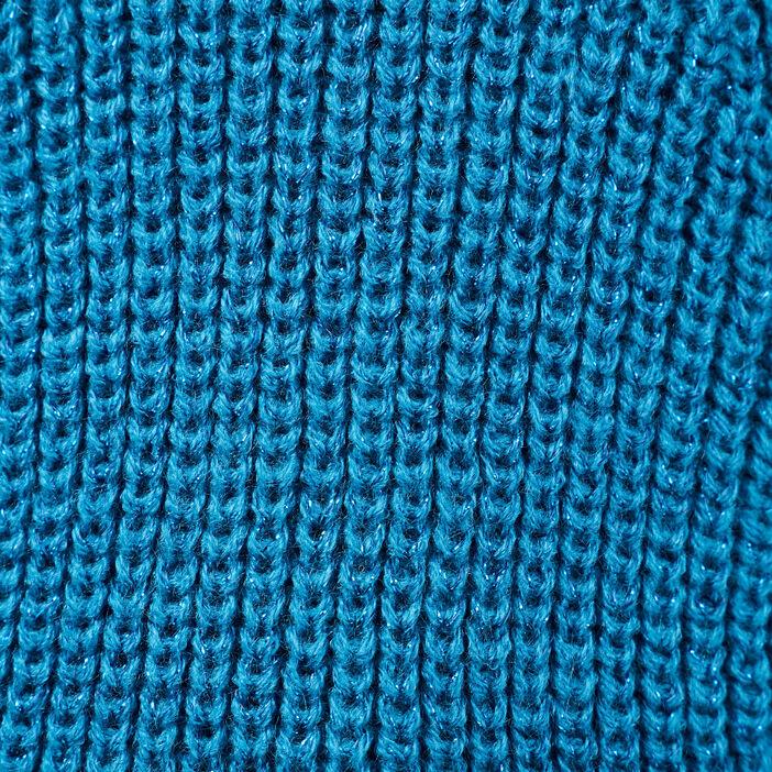 Pull manches longues bleu femme
