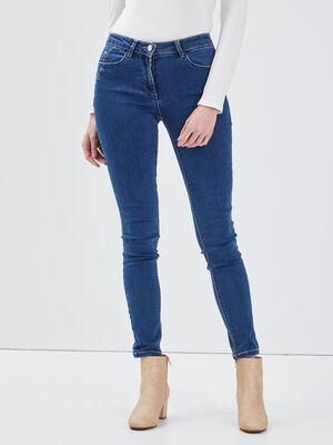 Jean slim taille haute denim stone femme