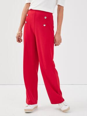 Pantalon bootcut a pont rouge femme