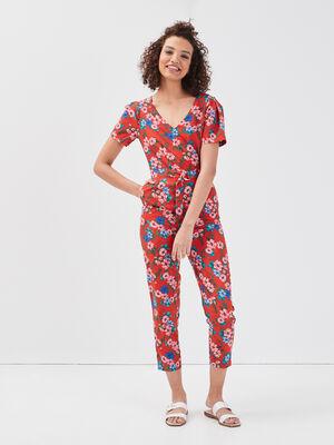 Combinaison pantalon 78eme rouge femme