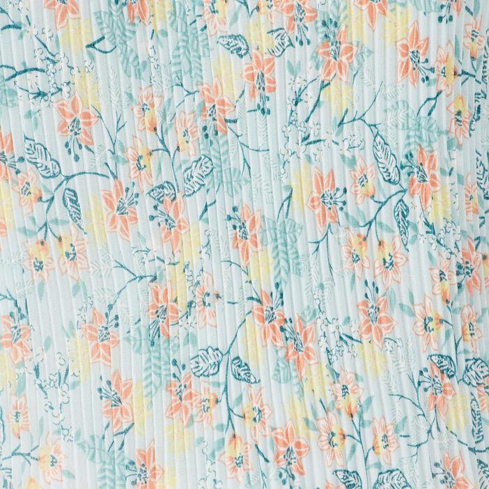 Blouse bretelles fines plissée bleu clair femme