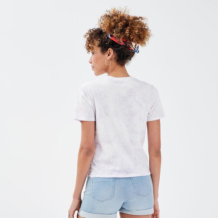 T-shirt manches courtes mauve femme