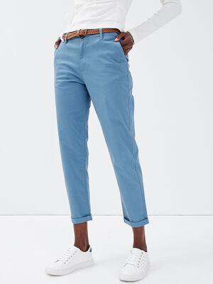 Pantalon chino 78eme bleu femme