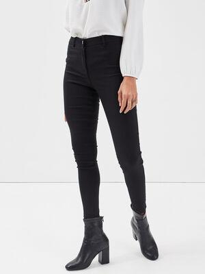 Jeggings taille haute noir femme