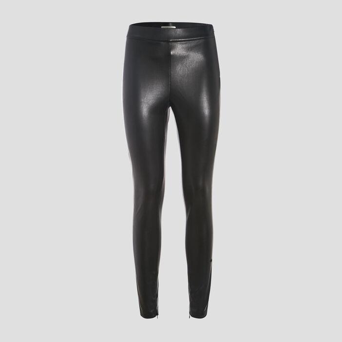 Legging similicuir noir femme