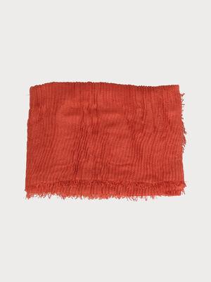 Foulard effet plisse orange fonce femme