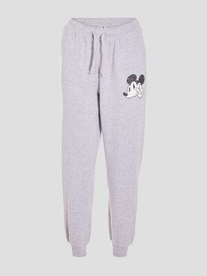 Pantalon jogging Mickey gris clair femme