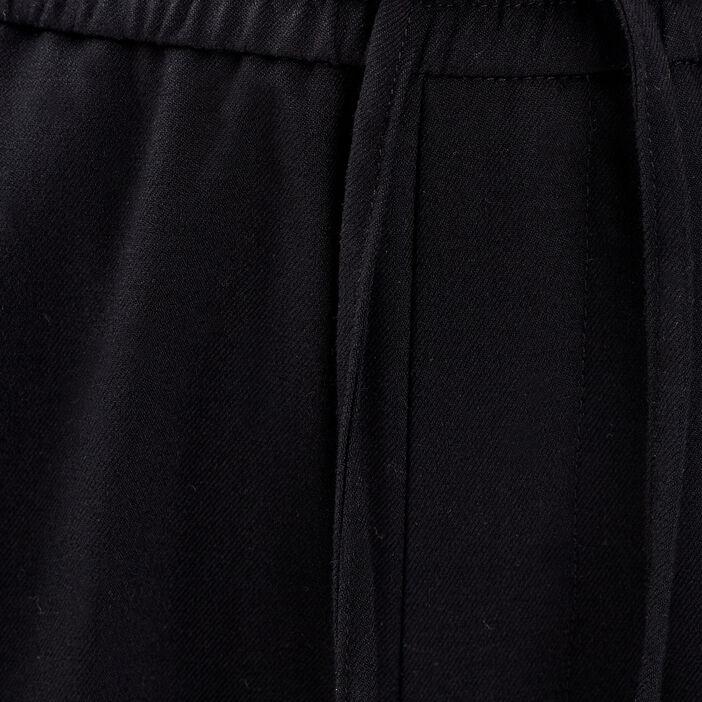 Pantalon jogging droit noir femme