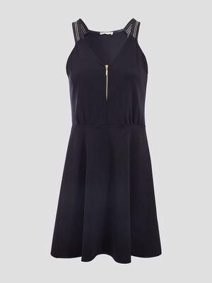 Robe pull patineuse zippee bleu marine femme