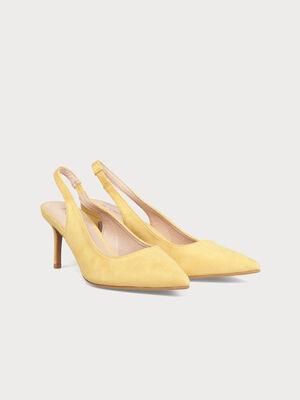 Escarpins talons aiguilles jaune clair femme