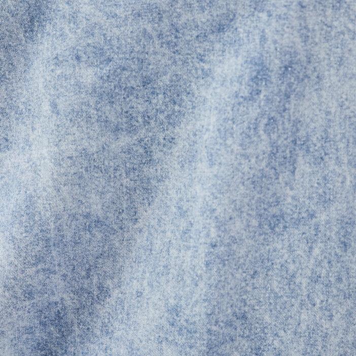 Blouse manches longues denim snow bleu femme