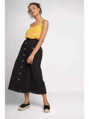 Jupe evasee taille standard noir femme