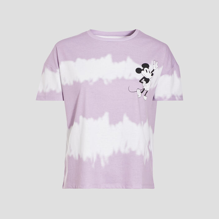 T-shirt manches courtes Mickey parme femme