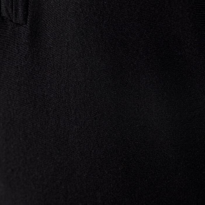 Pull avec col zippé noir femme
