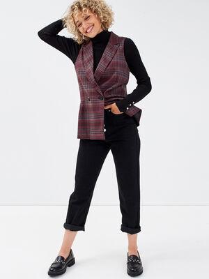 Jeans regular boutonne 78eme denim noir femme