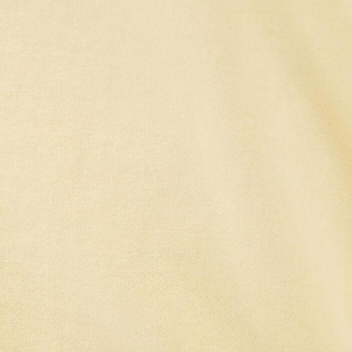 Sweat avec col rond jaune pastel femme