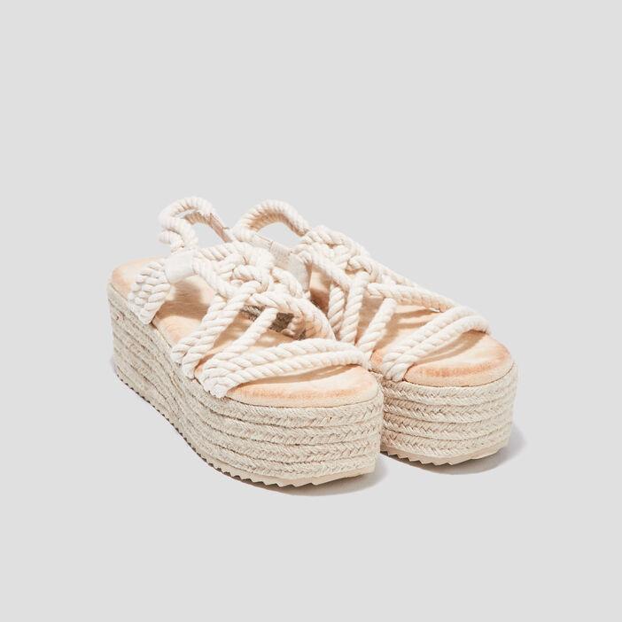 Sandales plateformes sable femme