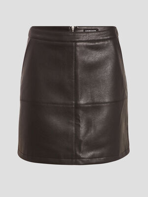 Jupe droite zippee noir femme
