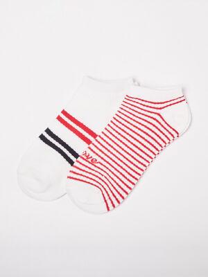 Lot 2 paires chaussettes ecru femme