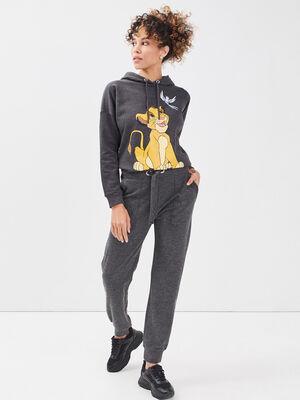 Pantalon jogging gris fonce femme