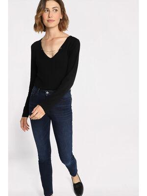 Jeans skinny effet push up denim brut femme