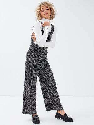 Combinaison pantalon large noir femme