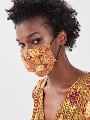 Masque en tissu vert kaki femme