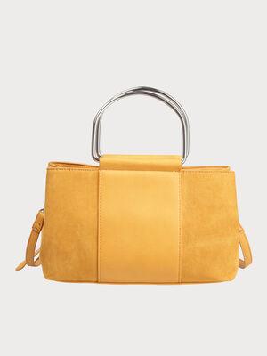 Sac a main city rectangulaire jaune moutarde femme