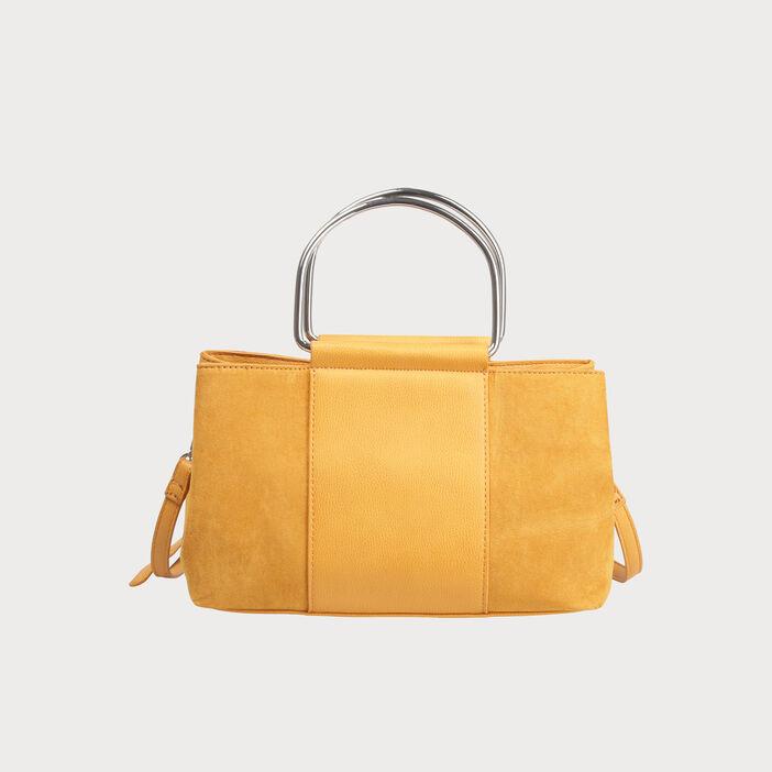 nouvelle qualité choisir officiel taille 7 Sac à main city rectangulaire jaune moutarde femme | Vib's