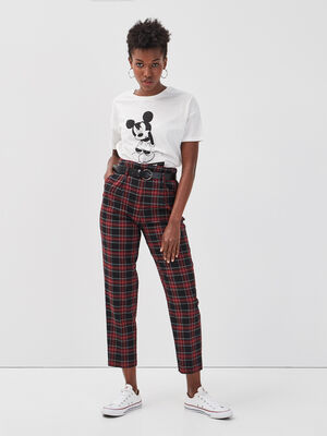Pantalon city ceinture noir femme