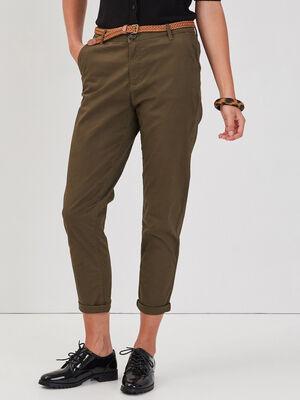 Pantalon chino 78eme vert kaki femme