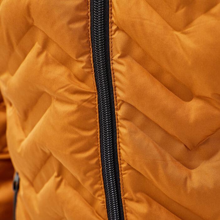 Doudoune droite zippée camel femme