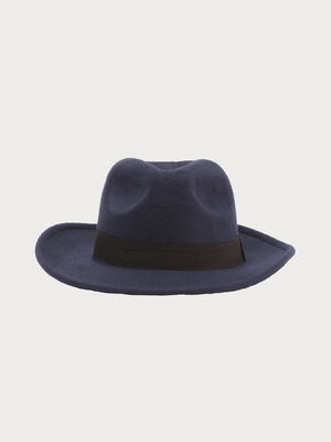 Chapeau bleu marine femme