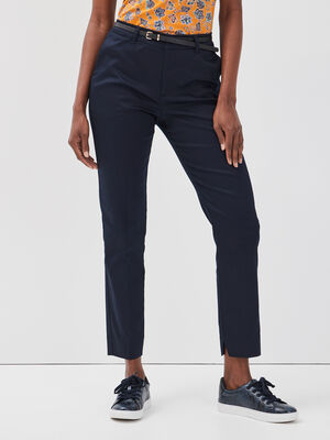 Pantalon 78eme a ceinture bleu marine femme