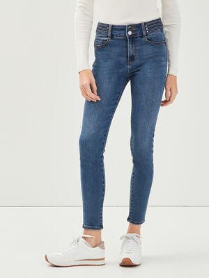 Jeans skinny details rivets denim stone femme