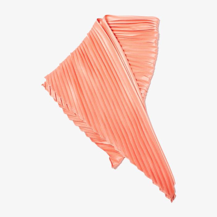 Foulard plissé rose saumon femme