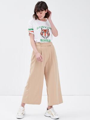 Pantalon large 78eme beige femme