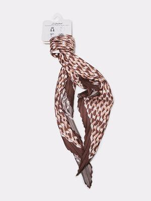 Foulard carre plisse sable femme
