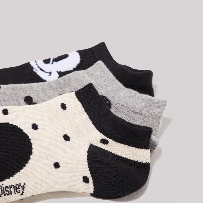 Lot 3 socquettes Mickey noir femme