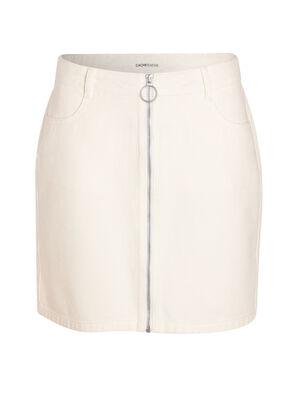 Jupe en jean zippee blanc femme